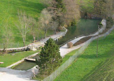 Vue de l'étang de pêche